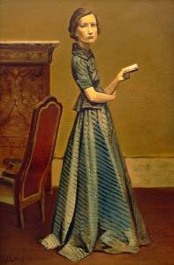 Balthus, Portrait de Femme en Robe Bleue - 1935