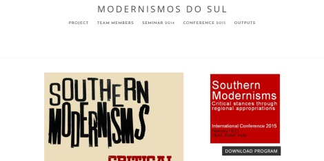 Website Modernismos do Sul