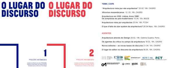 O Lugar do Discurso - Cartaz e Programa