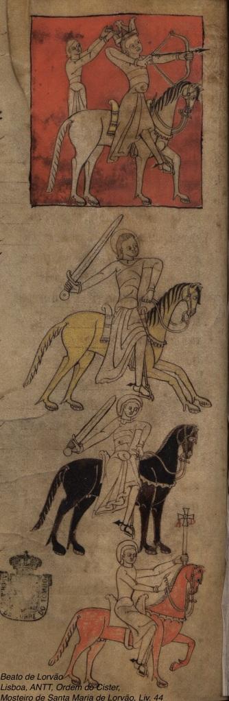 Lorvao Beatus, Lisbon, ANTT, Ordem de Cister, Mosteiro de Santa Maria de Lorvão, Liv. 44, fol. 108v.
