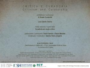 Cartaz Critica e Curadoria