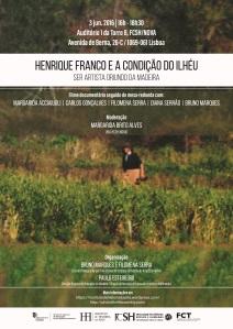 Cartaz Documentário Henrique Franco