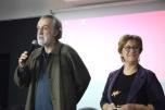 João Paulo Queiroz (Director do CIEBA - FBAUL) e Filomena Serra, 2.º dia da Conferência na Faculdade de Belas Artes de Lisboa