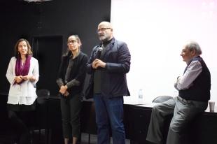 """Painel """"Imagens e contra-discursos"""", com Susana S. Martins, Sofia Leal Rodrigues, Horácio Fernandez (moderador) e Manuel Villaverde Cabral"""