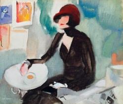 """No terrasse do café des Plaires"", 1920-90, António Soares"