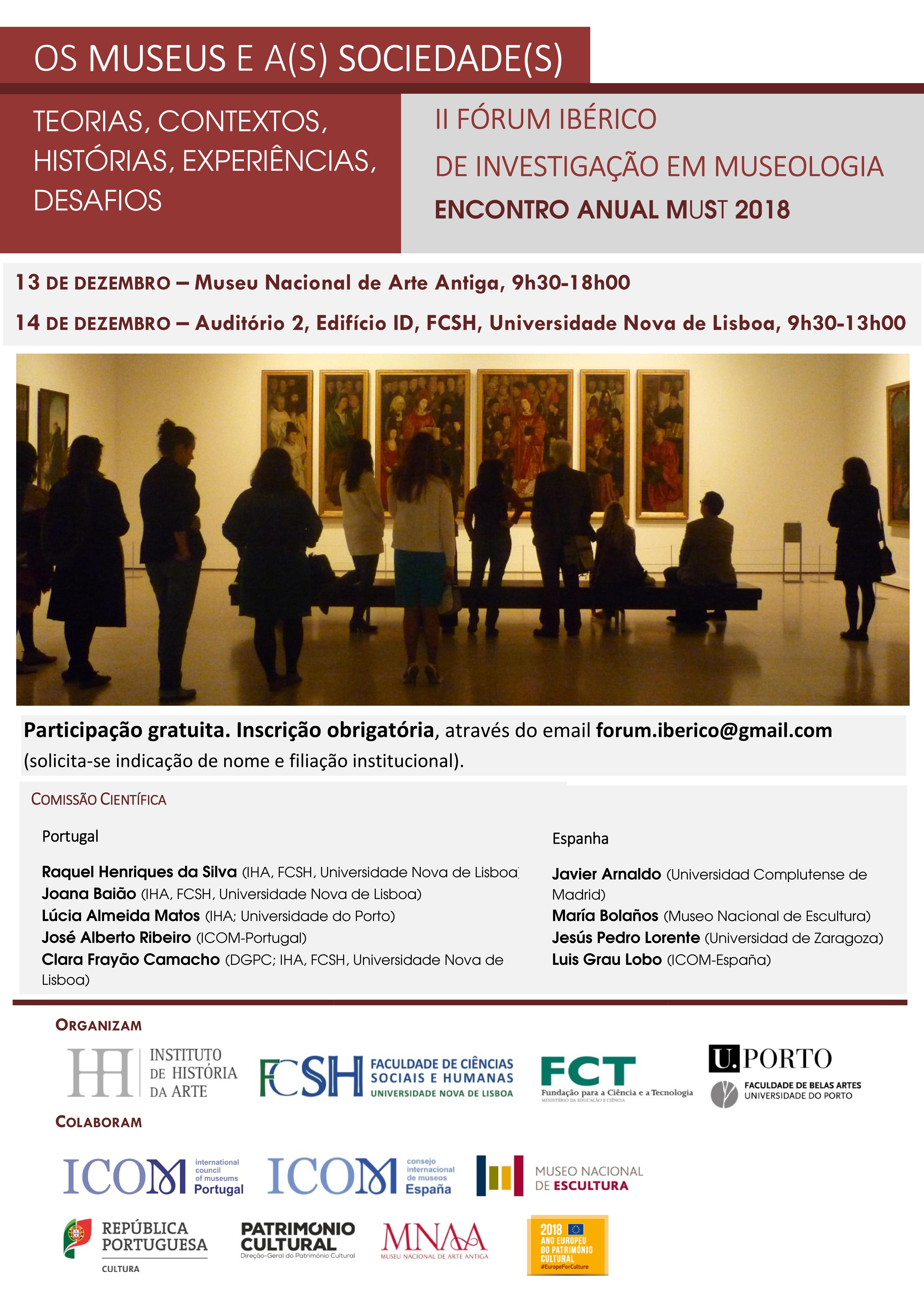 II Fórum Ibérico de Investigação em Museologia / Encontro anual MuSt 2018