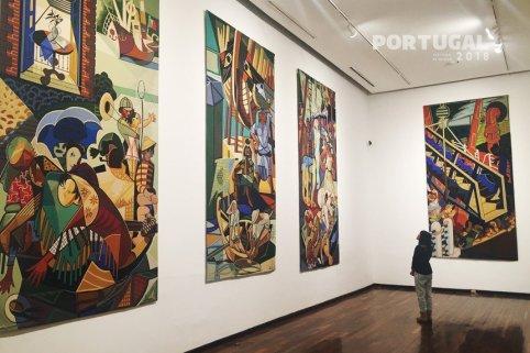 Almada no Museu de Belas Artes da Universidade de Guadalajara. FIL 2018