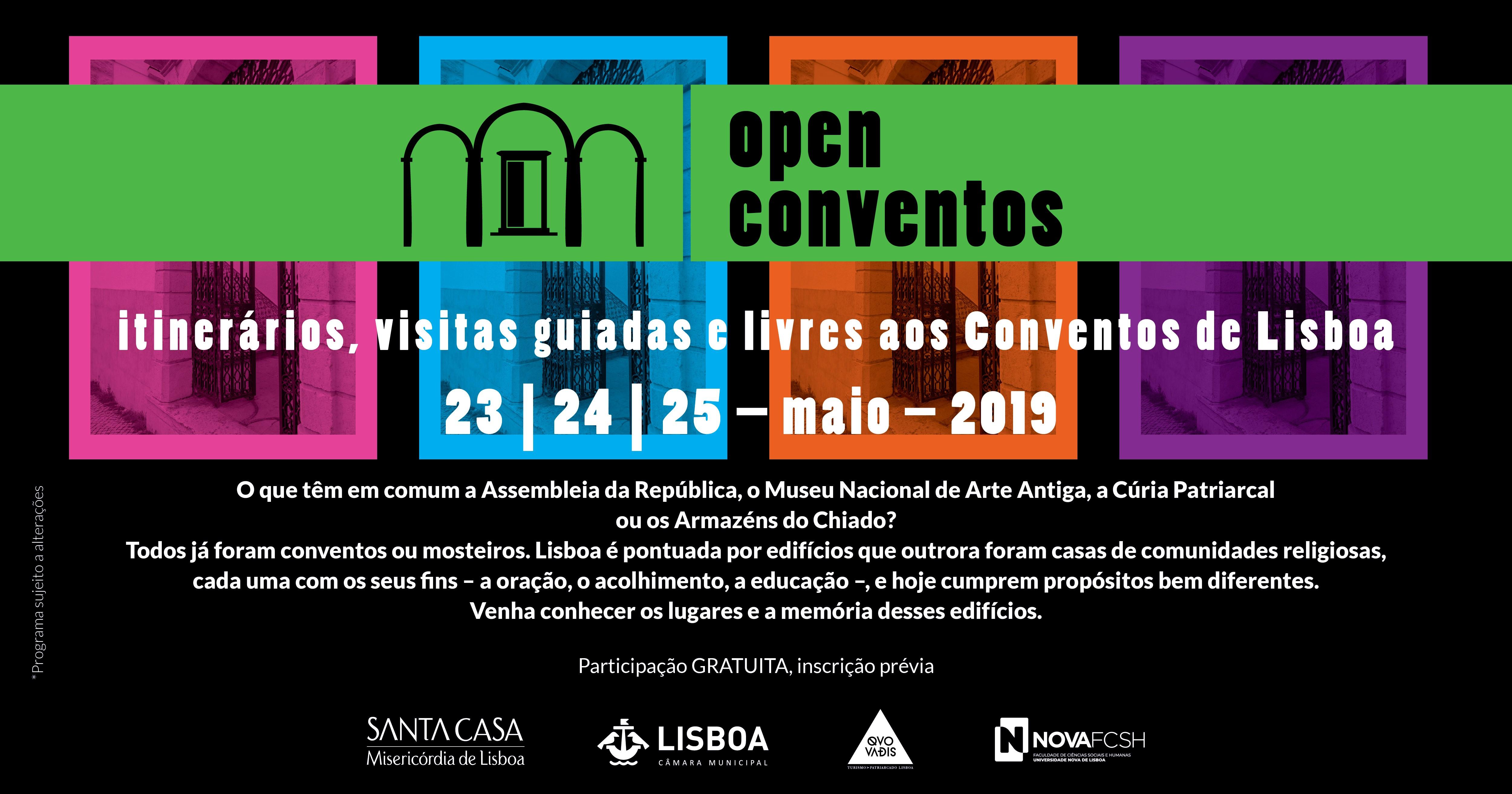 Open Conventos, Lisboa | 23 – 25 maio