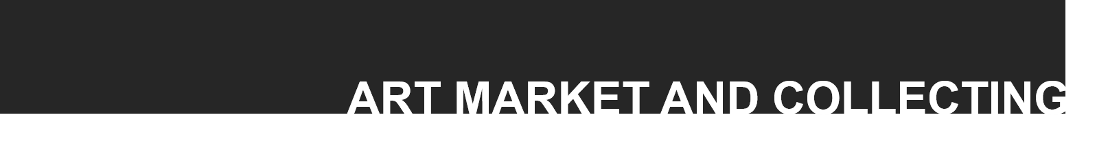 Art market and collecting