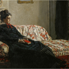 "Claude Monet (1840-1926)""Méditation. Madame Monet au canapé"", 1871"